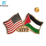 Metal Craft Nigeria American Canadian flag Lapel pin Badges