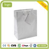 Argent monochrome - sac de papier de mode de cadeau enduit gris d'art