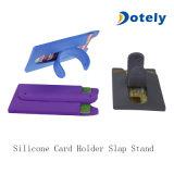 Portefeuille en silicone adhésif mobile Titulaire de carte Smart manchon pour le téléphone avec socle