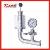 Medidas sanitarias de acero inoxidable SS304/SS316L Exhause Válvula de descarga de aire con vidrio