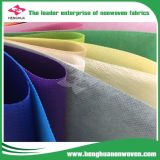 Tela não tecida de 100% PP Spunbond em vários larguras/pesos/cores
