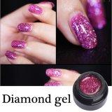 Nail Art populaire Glitter couleur lumineux UV Gel de diamants en polonais