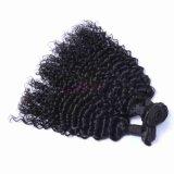 100% brasileira profunda Curly Virgem de cabelo humano Remy Hair