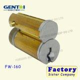 Boîtier en laiton de cylindre de mortaise de faisceau amovible