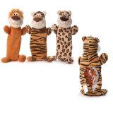 Giocattoli animali dell'animale domestico del leone della tigre della peluche molle per il cane