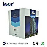 Carte vidéo LCD Buiness jouant la carte Carte de voeux vidéo LCD/GV Les cartes vidéo
