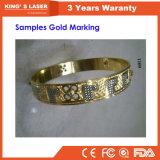 Macchina della marcatura del laser di alta precisione 100W dell'argento dell'oro di Stanlesssteel Alumilum della fibra