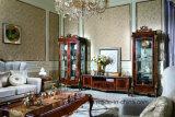 0070-1 bois solide avec le placage de luxe avec l'étalage classique de peinture à haute brillance