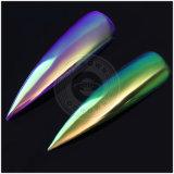 釘のための輝いたユニコーンのオーロラの粉、虹ミラーのクロム顔料
