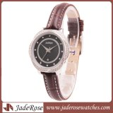 L'orologio delle signore del diamante dell'acciaio inossidabile, adatta la vigilanza di signore elegante