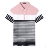 싼 도매 100%년 면 남자의 t-셔츠를 뜨개질을 하는 폴로