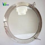 Декоративное серебряное круглое зеркало стены для ванной комнаты