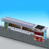 Abrigo chino accionado solar de la parada de omnibus con el rectángulo ligero del anuncio