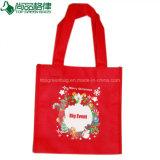 نمو تصميم رخيصة أحمر قابل للاستعمال تكرارا غير يحاك بناء عيد ميلاد المسيح حقيبة