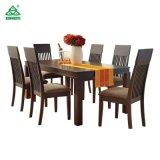 Таблица новой мебели конструкции деревянная материальная обедая при стулы сделанные в Китае