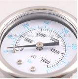 calibrador de presión del acero inoxidable de la alta calidad de 50m m