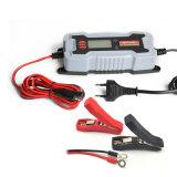 Chargeur sec de batterie de voiture de l'écran LCD 0.8A/3.8A 6V/12V
