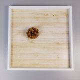 Hölzernes heißes quadratisches Frucht-Tellersegment in MDF und im Furnier-Blatt