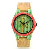 Вахта нового оптового деревянного франтовского кварца способа вахты способа женщин людей wristwatch лесистого Bamboo
