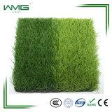 Hierba artificial del césped del fútbol con color rojo