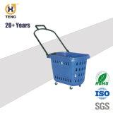 Het hete Verkopen reed Plastic het Winkelen Manden met Grote Capaciteit
