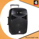 Caixa PS-3412gbt-Iwb do altofalante do DJ da bateria recarregável do altofalante do estágio