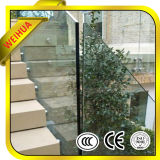 Televisão e encurvadas Vidro piso laminado de segurança claras para a construção de vidro do corrimão da escada
