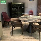 Cadeira de jantar de couro estofada de mármore ajustada da tabela de jantar da mobília da sala de jantar (DS003)