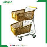 2018スーパーマーケットのための卸し売りFoldableプラスチックショッピングトロリー