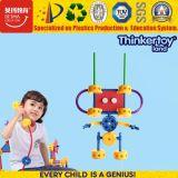 Dos blocos universais dos artesãos de Thinkertoy brinquedo colorido do robô da fantasia