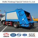 Dongfeng 12cbm 오른손 드라이브 압축 쓰레기 트럭