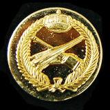 Oro che antico in lega di zinco del distintivo del collare polizia militare del metallo dell'esercito americano Badge (CB40403)