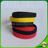 Kundenspezifisches Firmenzeichen-SilikongummiWristband für Frauen