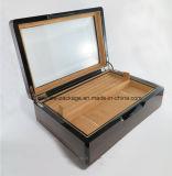 Fabricante seguro del rectángulo del conjunto de la joyería de madera elegante con el espejo para la venta