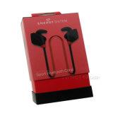 Commerce de gros des écouteurs Bluetooth du papier de luxe rouge Emballage