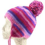 Мода зимы футбольной команды трикотажные зимой Earflap POM POM Red Hat