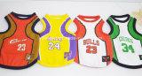 Ropa del perro de animal doméstico de las personas de baloncesto del balompié, camiseta de los perros