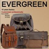 Sac de déplacement d'homme de sac à dos de toile de sac à dos de sac de toile de cuir de sac de toile de l'usine Sy7858 de la Chine