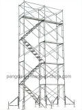 사슬 공장 전통적인 외부 아키텍쳐 Q235 강철 문틀 비계
