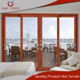 Porte coulissante en verre des graines de double en aluminium en bois de profil pour le balcon