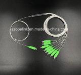 Cable de fibra óptica Gpon de telecomunicaciones 1X8 PLC Splitter Blockless