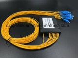 Divisore del PLC della scatola di plastica di telecomunicazione 1X16 di Gpon del cavo ottico della fibra