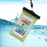 TPU Sac étanche de l'airbag téléphone avec l'afflux d'alarme et l'Imperméabilisation de 30m pour la plongée