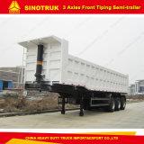 Три моста 30m3 для тяжелых режимов работы передний опрокидывания Полуприцепе 2017 грузового прицепа