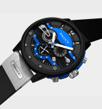 High-End het Horloge van de Sporten van de Chronograaf van de Luxe van de Mensen van de Horloges van de Manier van Mens van de Riem van het Silicone van de Douane