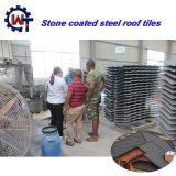 Marca Wante 1340*420*0,4 mm de acero recubierto de tejas de piedra