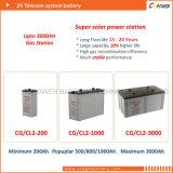 pila secondaria di 2V 3000ah per il sistema di batteria solare 48V