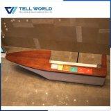 Compteur commercial Arc-Shaped de marbre artificiel de réception de seul modèle de tornade de la TW