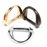 A curvatura quente do anel-D da liga do zinco do metal da venda para o saco parte os acessórios dos bens do couro de sapatas da curvatura de correia (YK1100)