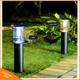 LED de fer Lumière solaire de jardin piscine Landcape Pole lampe gazon